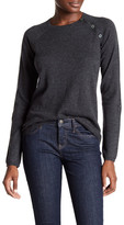 Zadig & Voltaire Reglis Lamb Leather Patch Wool Blend Sweater