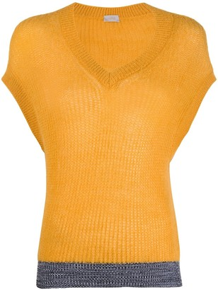 MRZ sleeveless V-neck jumper