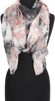Big Buddha Blush & Gray Abstract Hidden Roses Scarf