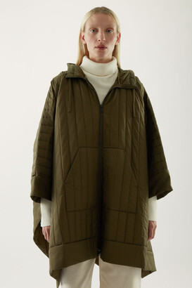 Cos Padded Hooded Cape