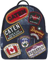 DSQUARED2 Badge denim backpack