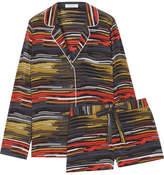 Equipment Lillian Printed Washed-silk Pajama Set - Black