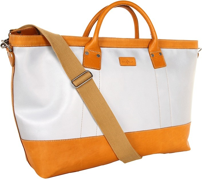 Cole Haan Carryall (Silver/Cammello) - Bags and Luggage