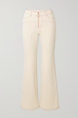 See By Chloe - High-rise Flared Jeans - Ecru