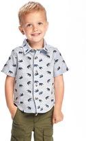 Old Navy Elephant-Print Slub-Knit Shirt for Toddler Boys