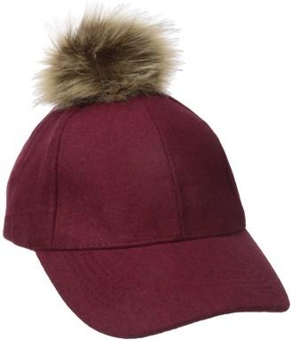 Rampage Women's Winter Hat with Faux Fur Pom