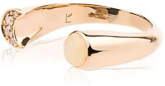Pamela Love diamond and opal luna ring