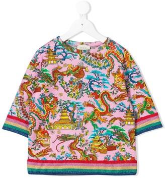 Gucci Kids Chinese dragon T-shirt
