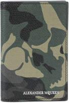 Alexander McQueen camouflage skull wallet