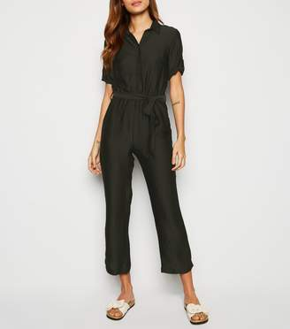New Look Innocence Satin Belted Boiler Suit