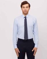 Jaeger Cotton Slim Thin Stripe Shirt