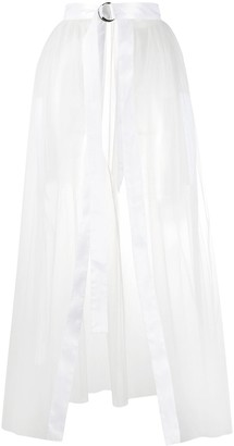 Loulou Sheer Belted Overskirt