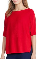 Lauren Ralph Lauren Boat Neck Elbow Sleeve Sweater