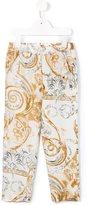 Roberto Cavalli baroque print trousers
