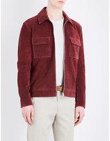 Gieves & Hawkes Zip-up suede jacket