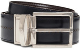 Canali Leather Perforated Reversible Belt