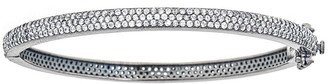 Forever Creations Usa Inc. Forever Creations Silver 5.25 Ct. Tw. Sapphire Bangle