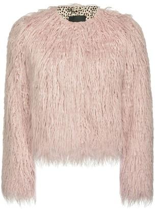 Pinko Shag-Trimmed Faux Shearling Jacket