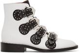 Givenchy White Studded Elegant Boots