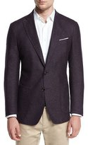 Peter Millar Alpine Tweed Soft Sport Coat, Spiced Plum
