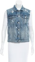 Rag & Bone Distressed Denim Vest