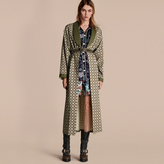 Burberry Geometric Print Silk Cotton Dressing Gown Coat