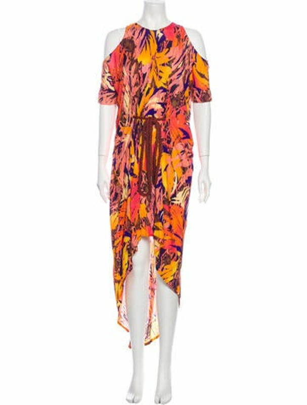 Matthew Williamson Printed Long Dress Pink