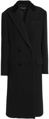 Dolce & Gabbana Double-breasted Wool And Cotton-blend Felt Coat