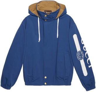 Gucci logo print reversible jacket