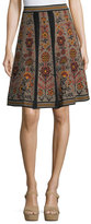 M Missoni Floral Jacquard Knit Swing Skirt
