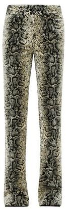 Giambattista Valli Snake-jacquard Velvet Trousers - Beige Multi