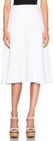 Sally Lapointe Stretch Boucle Flare Skirt
