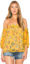 Ella Moss Poetic Garden Top in Mustard