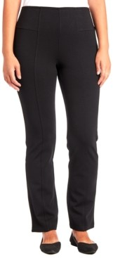 Joseph A Ponte-Knit Bootcut Pull-On Pants