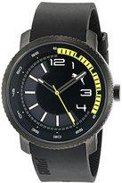 Puma Unisex PU103291001 Overdrive Analog Display Quartz Black Watch