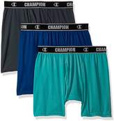 Champion Men's Active Performance Boxer Brief Stealth/Teal