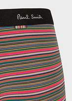 Paul Smith Men's Olive Green Thin Stripe Low-Rise Boxer Briefs