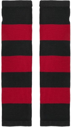 6397 Striped Fingerless Gloves