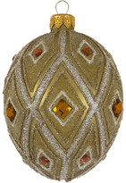 Christmas Shop 6X4CM EGG GLASS JEWEL EMBELLISHED GOLD