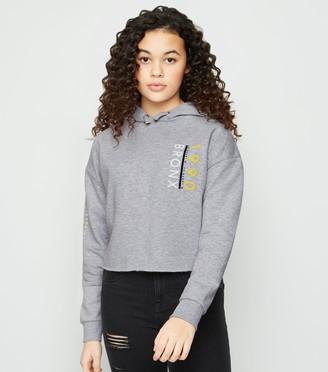 New Look Girls 1990 Bronx Slogan Hoodie