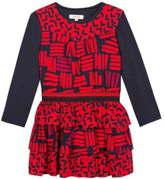 Catimini Printed Viscose And T-Shirt Dress