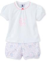 Petit Bateau Baby girls short pajamas in lightweight cotton