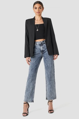 NA-KD Front Pleat Jeans