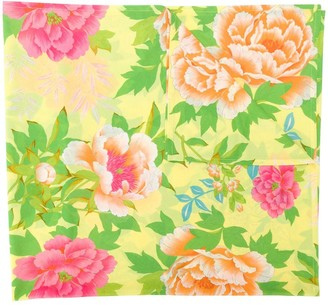 Kenzo Pre Owned Floral Print Scarf