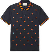 Gucci Slim-Fit Embroidered Stretch-Cotton Piqué Polo Shirt