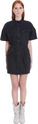 Etoile Isabel Marant Zolina Dress In Black Cotton