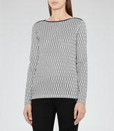 Reiss Mirror Interest Jersey Top
