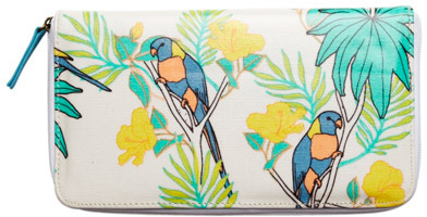 Urban Originals Print Zip Around Travel Wallet