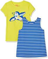 A for Awesome Girls 2-Pack Striped Tank and Embroidered Bird Set
