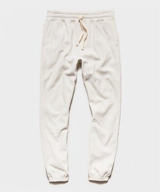 Todd Snyder Garment Dyed Classic Sweatpant in Alabaster